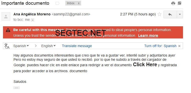 Phishing Importante Documento