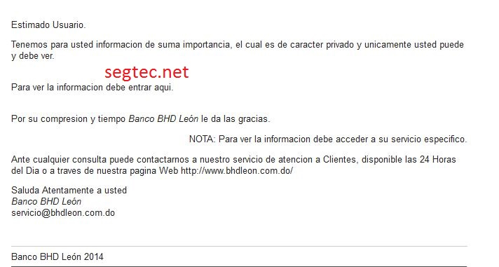 phishing banco bhdleon